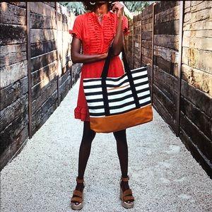Brand New DSW Striped Tote Bag